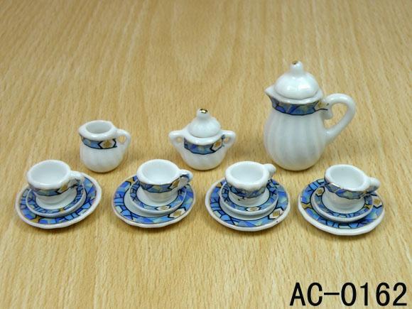 Wish | Painting China 15 Pcs Miniature Tea Set Imitation Porcelain Teaware Dollhouse Ceramic Toy Tea Pot Tea Cup Saucer and Dish & Wish | Painting China 15 Pcs Miniature Tea Set Imitation Porcelain ...