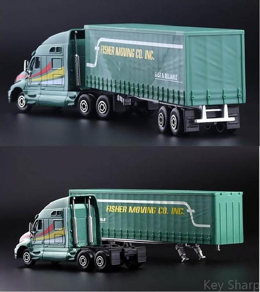 Hot Sale! Kenworth Truck Model Fisher Moving Trucks Alloy Die-cast Car Toys  for Children