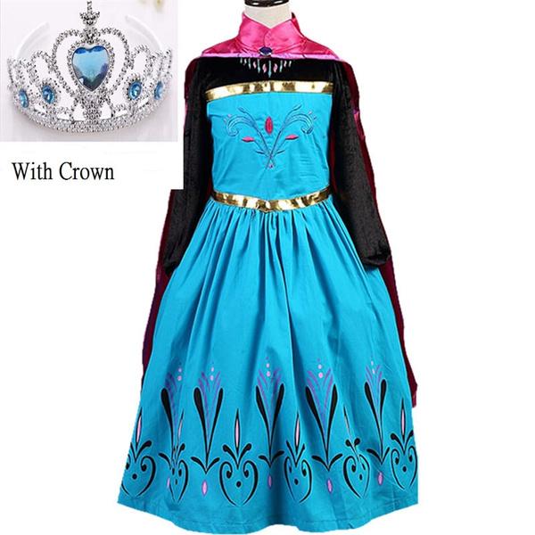 Elsa Dress Custom Cosplay Anna Girls Dresses Princess Costume for