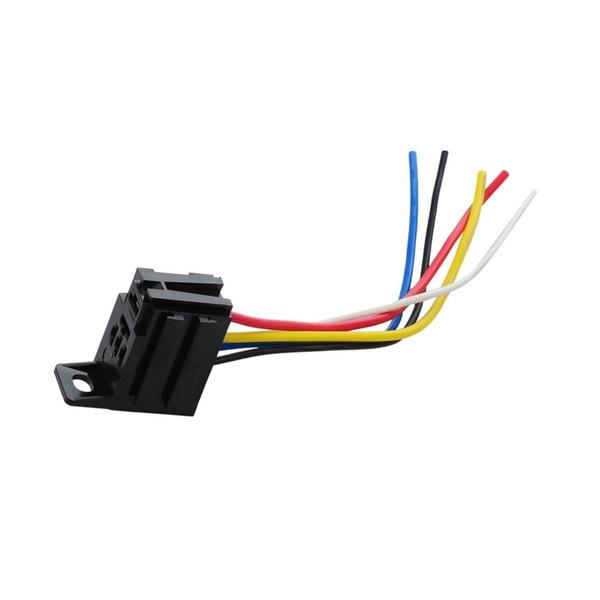 5Pcs Car Auto Relay Socket 12V 20A 30A 5 Prong 5 Wire Relay Harness  Wire Relay Harness on