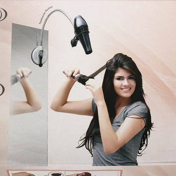 hot-360-degree-hands-free-stand-bathroom-blow-hair-dryer-holder-with-suction-cup by wish