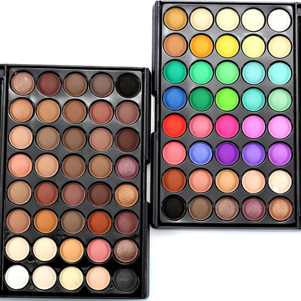 Picture of 8/10 /12 Colors Eye Shadow New Makeup Natural Shimmer Matte Eyeshadow Palette + Brush Cosmetic Set