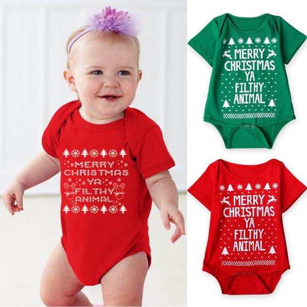 Jumpsuit Weihnachten.Christmas Newborn Baby Boy Girls Romper Bodysuit Infant Jumpsuit Outfits Clothes Gifts