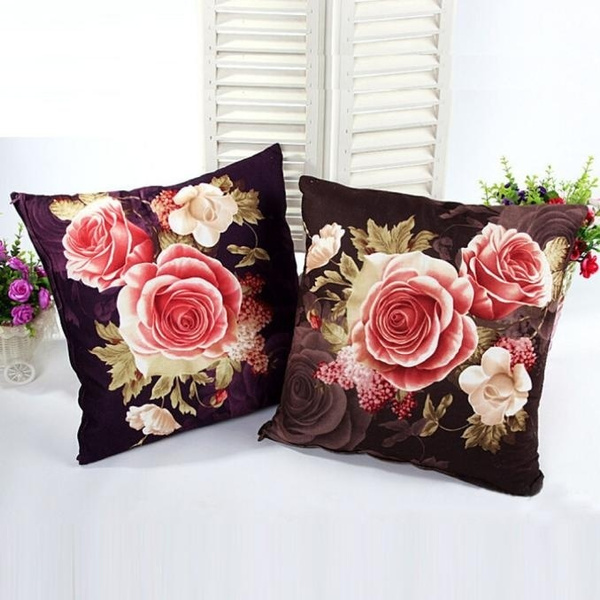 Picture of Home Decor Printing Dyeing Peony Sofa Bed Home Decor Pillow Case Cushion Cover