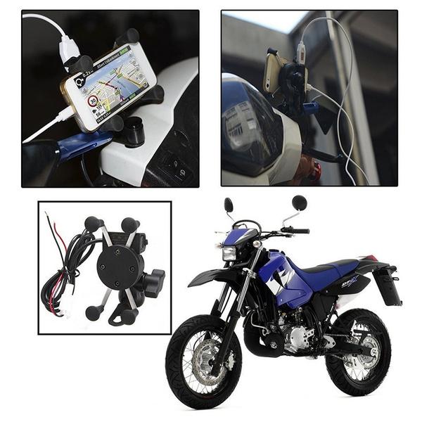 Steel, usb, xgripmotorcyclemountcellphone, charger