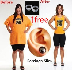 Bio Magnetic Healthcare Earring Weight Loss Earrings Slimming Ear Healthy Stimulating Acupoints Stud Earring Magnetic Therapy