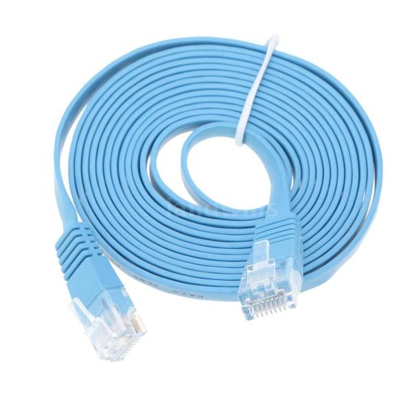 Wish | Universal 0.5m -30m Cat6 Ethernet Flat Cable RJ45 Computer ...