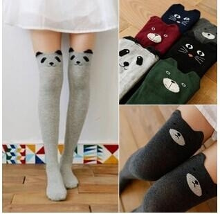 Women's Fashion Cute 3D Cartoon Animal Pattern Thigh Stockings Over Knee High Knit Socks