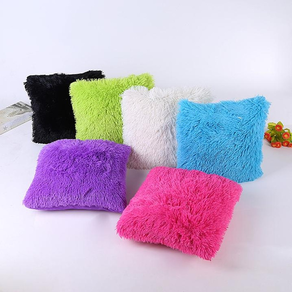 Picture of Stylish Plush Throw Pillow Case Sofa Waist Throw Cushion Cover Home Decor