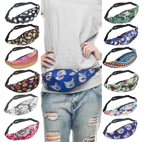 Picture of Bum Bag Fanny Pack Festival Waist Belt Pouch Travel Holiday Bumbag Money Wallets
