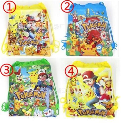 Picture of Pokeman Backpacks Drawstring Schoolbag 4 Styles Cartoon Pokemon Pikachu Drawstring Bags Shopping Bags