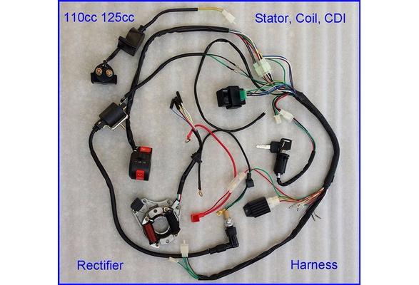 wish wire harness wiring cdi assembly for 50 70 90 110cc 125cc atv rh wish com