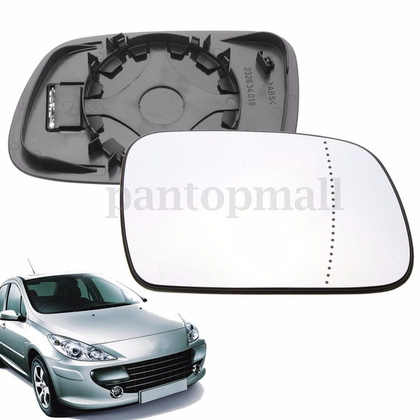 Left passenger side mirror glass with clip for Peugeot 208 12+