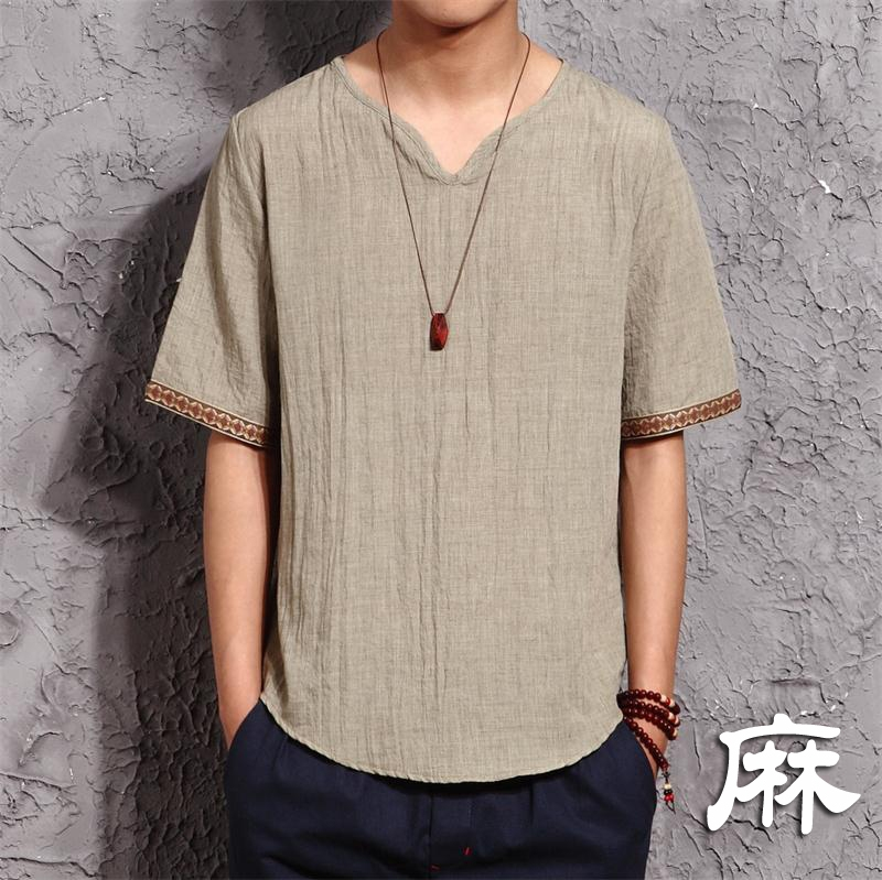 mens traditional linen shirts casual t shirts sleeve