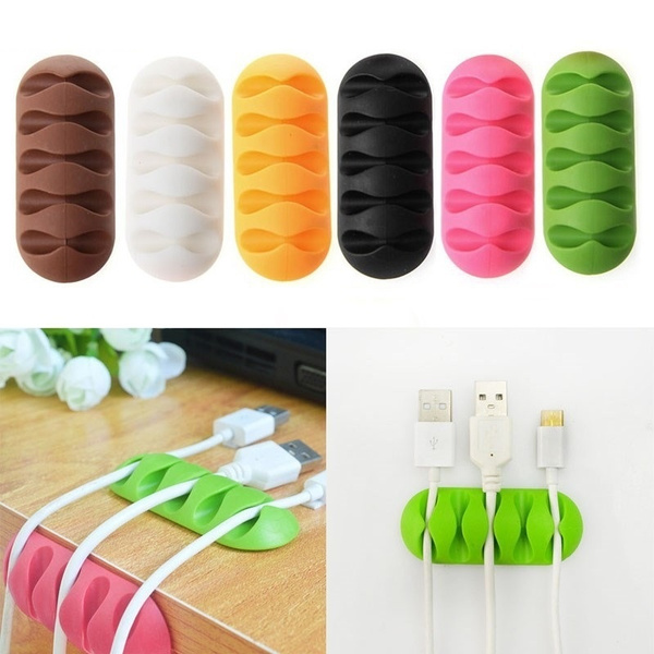 2PCS/Set Multipurpose Wire Cord Cable Tidy Holder Drop Clips Organizer Line Fixer Winder