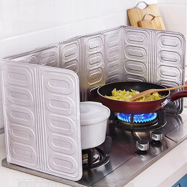 Kitchen Tools Cooking Insulate Splash Proof Oil Removal Baffle Plate Aluminium Foil Splatter Screens Stove Separate Oil Paper