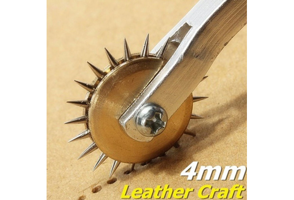 Stainless Steel Leather Paper Overstitch Wheel Gear Roulette Spacer Sewing Tool