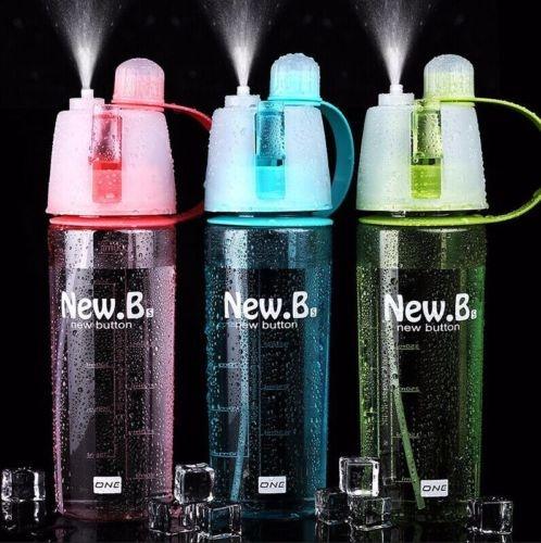 Portable Water Drink Bottle Outdoor Sport Travel Leak Proof Cup Spray Bottle New