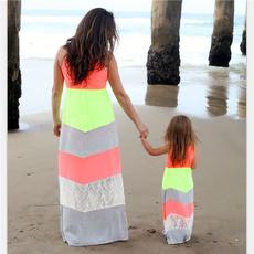 Summer, girls dress, familymatchingoutfit, Family