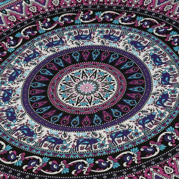 Wish Tapis De Yoga Round Hippie Tapestry Beach Throw Roundie