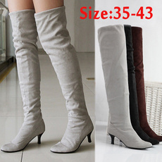 Knee High Boots, Plus Size, Winter, long boots