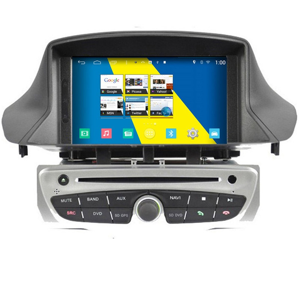 7'' winca s160 android 4.4 car dvd player for renault megane iii with radio  gps navigation stereo 8g sd card with map