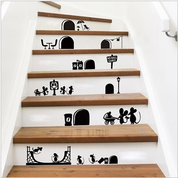 Picture of Creative 3d Cartoon Mouse Diy Sticker Art Design Decal Wall Posters Stickers