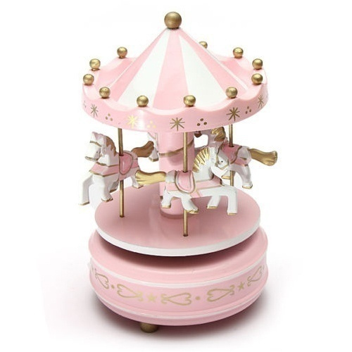 Picture of Musical Carousel Horse Wooden Carousel Music Box Toy Child Baby Game