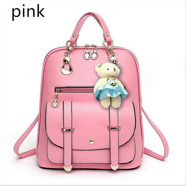 newest collection unbeatable price how to find Women Fashion Backpack Casual Popular Leather Bag Students School Bags  Simple Classic Backpack Gifts for Girls