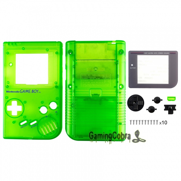 Customized Housing Shell Repair Parts for GAME BOY DMG-01 Clear Green