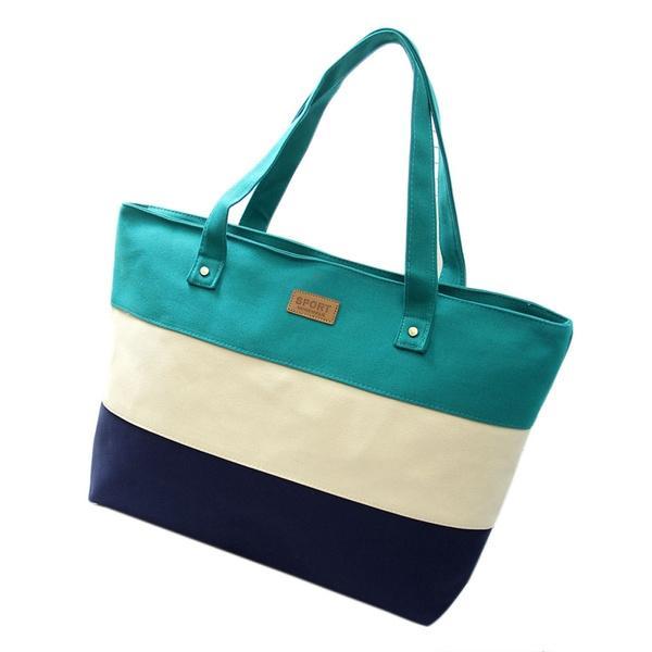 Picture of Ladies Hand Canvas Big Beach Shoulder Women Messenger Tote Bags Female Handbags