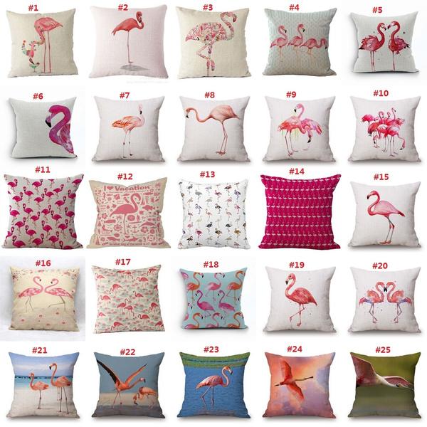 Picture of Lovely Flamingo Printed Throw Pillow Houseware Fashion Gift Cushion Cover Home Sofa Seat Decor Almofadas Pillowcase