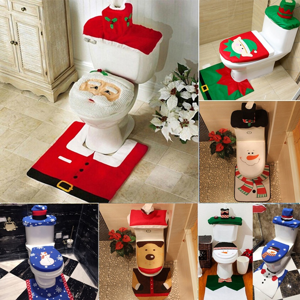 toiletdecoration, Bathroom, footpad, Christmas