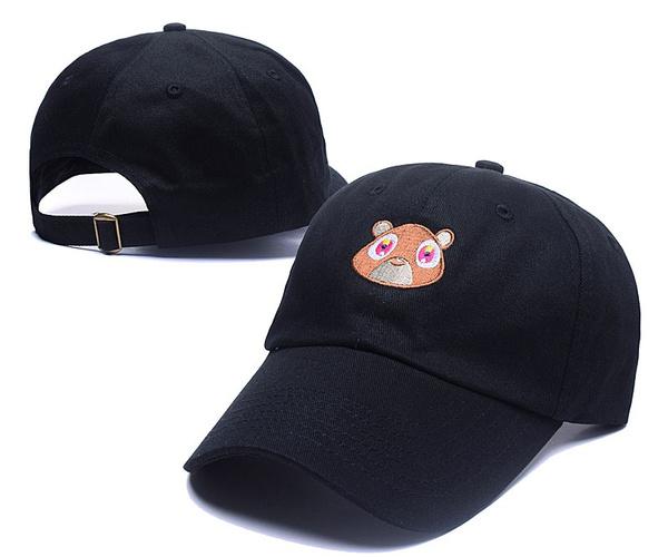 6116f8c3 Wish | Black Pink Tan Kanye West Graduation College Dropout Bear Dad Hat Cap  Never not weird Baseball Cap Hip Hop Summer Snapback hat