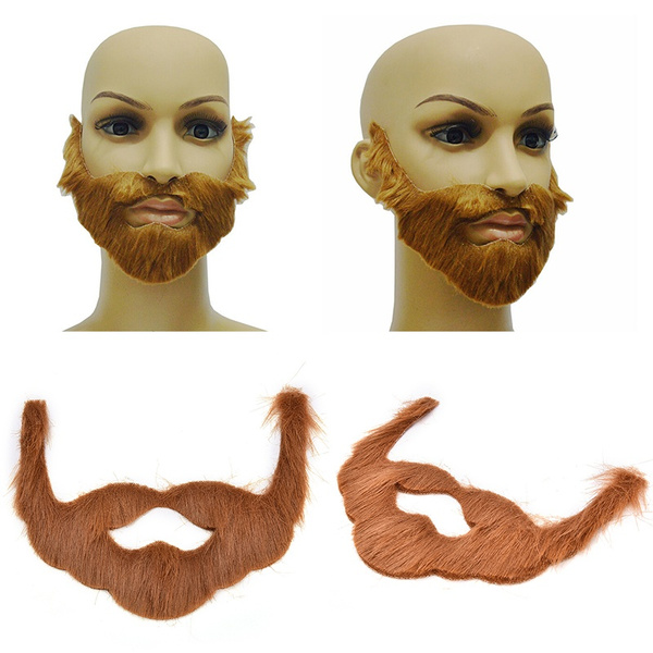 Cosplay//Costume Party Male Halloween Beard Facial Hair Disguise Brown Mustache