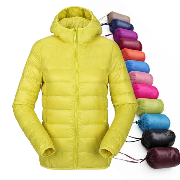 Women Ultra Light Down Jacket Winter Duck Down Jackets Women Slim Long Sleeve Parka Zipper Coats 2018 Pockets Solid by Wish