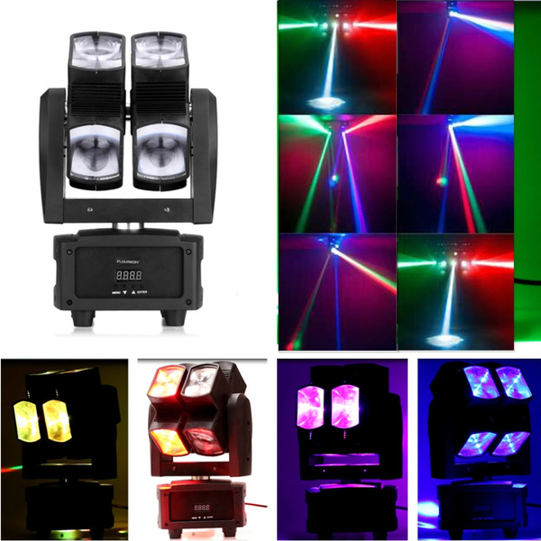 Floureon® 80W LED Moving Head Stage Light 8 x 10W RGBW 4 IN 1 Beam Wash  Spot Light Par Stage Light DMX512 10/21 Channels Double Wheel Full-color