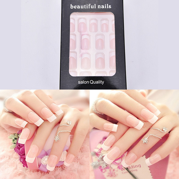 Picture of Fake Full Nails Exotic Shell Manicure False Finger Tips Nail Art Acrylic