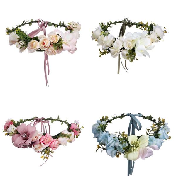 bohemia, Flowers, fleurcouronne, Garland