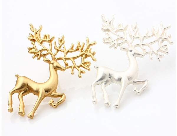 Women's Fashion, brooches, christmasreindeerbrooche, jewelrypin