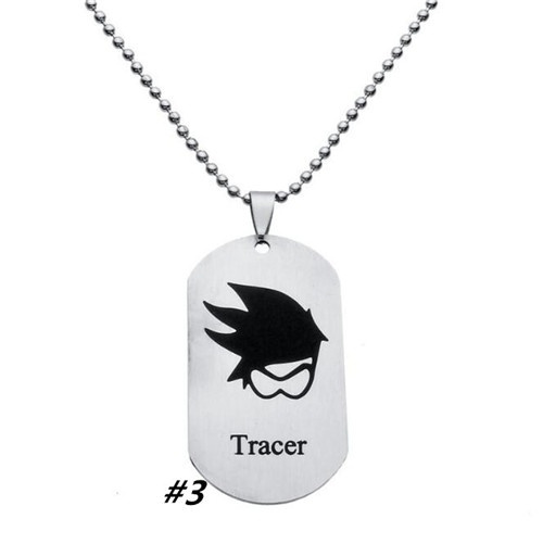 New Arrival Overwatch Pendant Necklace FPS Game Logo Tracer Reaper Widowmaker Hanzo Metal Necklaces