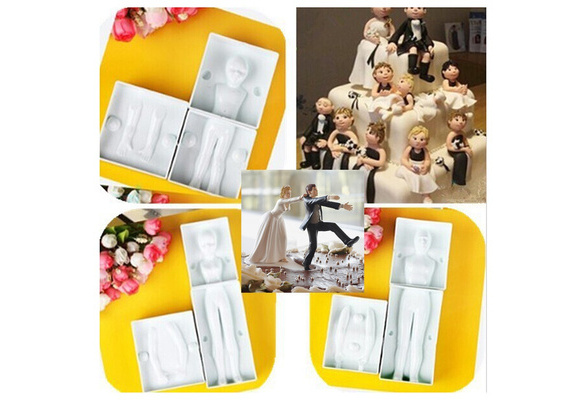 Rose4you- Fondant 3D People Shaped Cake Figure Mold Family Set Human Body Decorating Mould for Creating Men Women Children ZH102