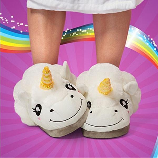 Femmes Licorne Maison Blanc D Wish Chaussures Coton Pantoufles 1fS6qYAH