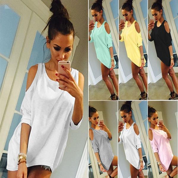 irregulartshirt, summertopsforwomen, Fashion, Tops & Blouses