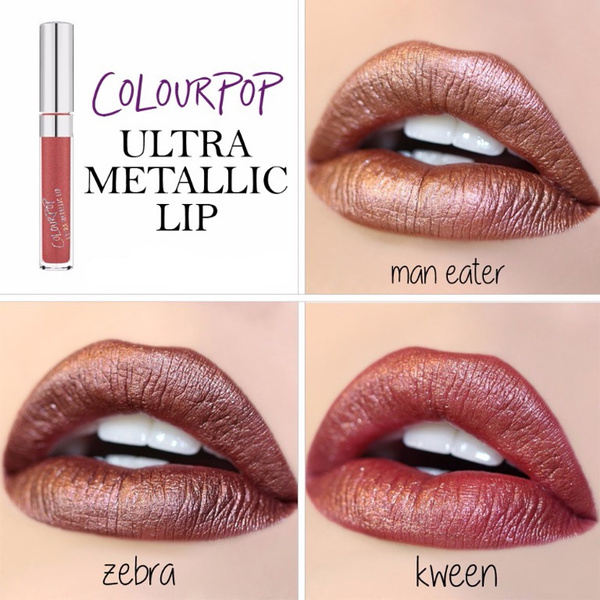 30 Ultra Metallic / Matte Color Waterproof Shimmer Lipstick Makeup Long Lasting Brown Nude Color Lip Gloss