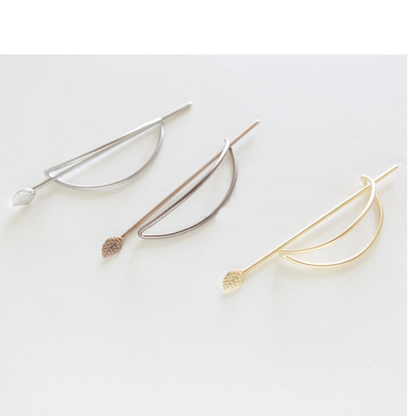 Gilr's Simple Geometric Elliptical hollow out Updo Hairpin Hair Jewelry Barrette For Women Gift