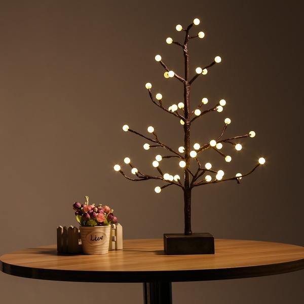 Picture of Excelvan 0.45m/1.5ft 48led Cherry Blossom Desk Top Bonsai Tree Light Home Decoration