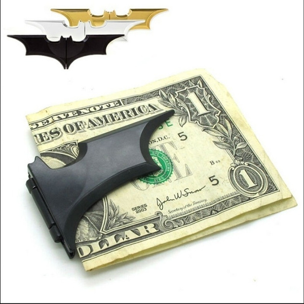 Picture of Renhe1995 New Fashion Batman Metal Bats Dart Tactical Gear Magnetic Wallet Money Clip Card Holder Renhe1995zt4839 Color Black Renhe1995 Color Black