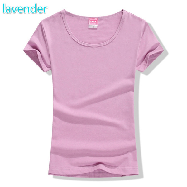 33bb090594 2017 New Fashion Women Cotton T-shirt Brand Tee Short Sleeve Tops for Women  Clothing Girl O-neck T Shirt Anti-static Blouse