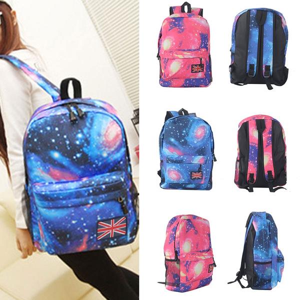 Picture of Galaxy School Bag Girl Boy Travel Rucksack Laptop Bookbag Shoulder Backpacks